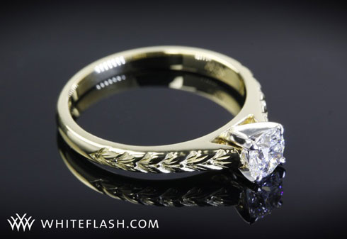Engagement Ring Golden