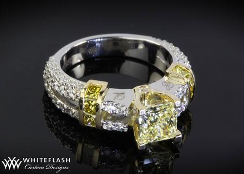 yellow diamond custom ring