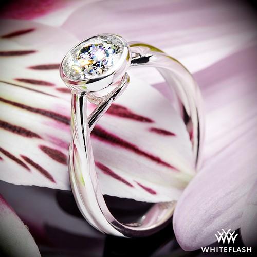 Custom Bezel Solitaire Engagement Ring