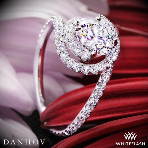 Danhov AE100 Abbraccio Swirl Diamond Engagement Ring