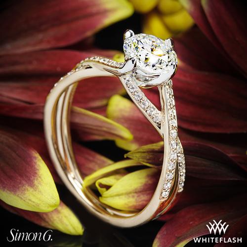 Simon G MR1394 Fabled Diamond Engagement Ring
