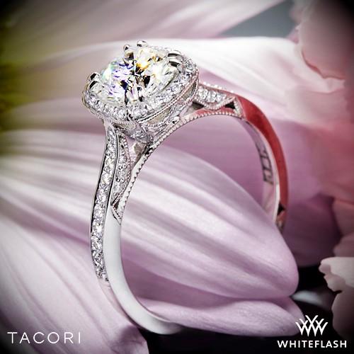 Tacori 2620RD Dantela Crown Diamond Engagement Ring
