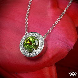 Halo Prong Diamond Pendant