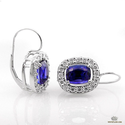 Halo Oval Sapphire Earrings
