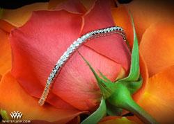 diamond  bracelet, 2ct half bezel tennis bracelet