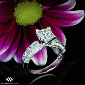 Princess cut diamond ring by Whiteflash
