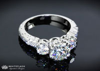 3 Stone Champagne Ring