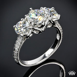 3 Stone Diamond Engagement Ring(3)