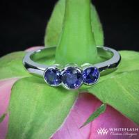 3 stone sapphire custom ring