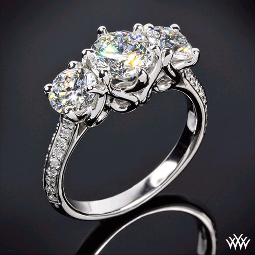 3 Stone Swan Diamond Engagement-Ring by Vatche