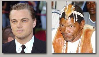Leonardo DiCaprio and Roy Sesana