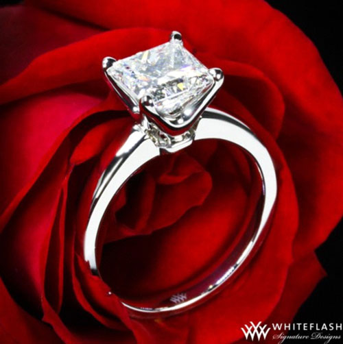 4 Prong Princess cut ring