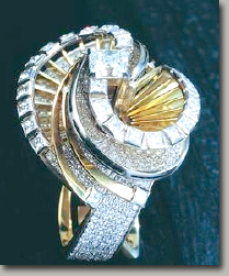 The Dance of an Angel Diamond Ring