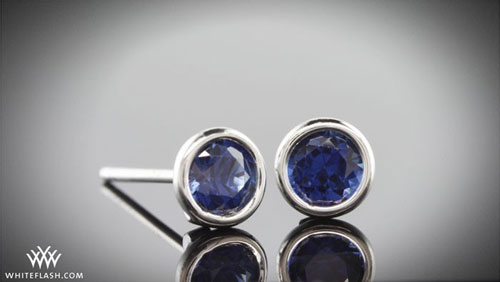blue sapphire studs earrings