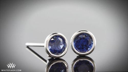 blue sapphire studs earrings