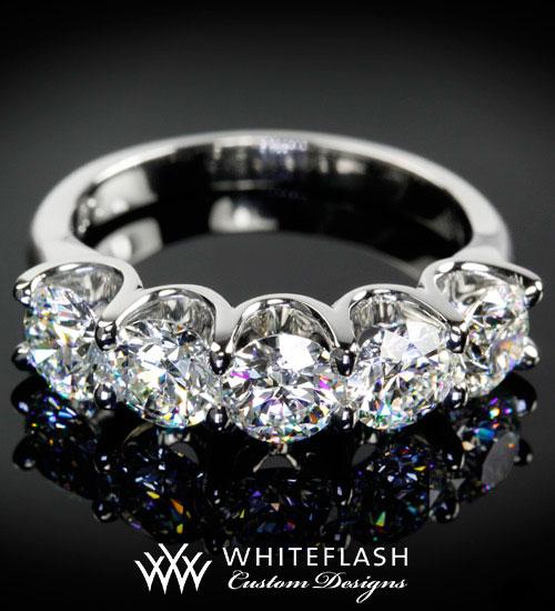 5 Stone Diamond Wedding Ring