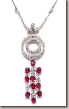 GIA,ruby,diamond,necklace
