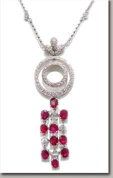 GIA,ruby,diamond,necklace