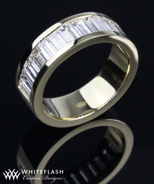 baguette custom wedding band