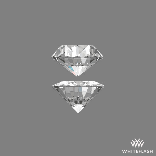 Extreme examples of poorly proportioned 60/60 diamonds