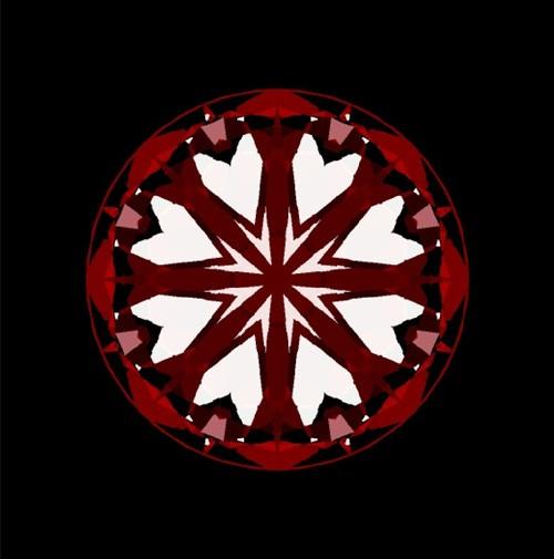 Hearts in diamond