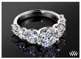 7 stone u prong custom engagement ring(