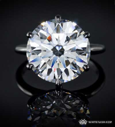 ACA diamond in modified 6 prong ring