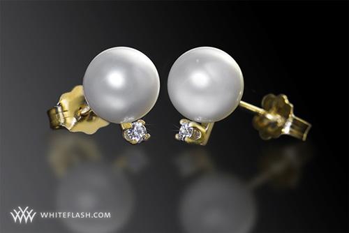 pearl earrings,Gemstones