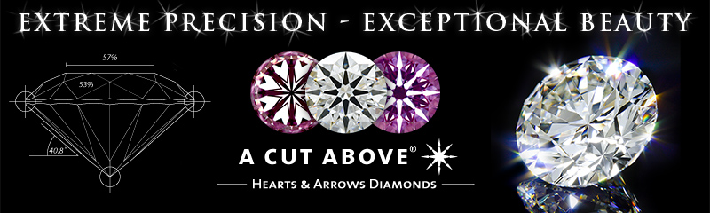 A CUT ABOVE Hearts and Arrows Diamonds