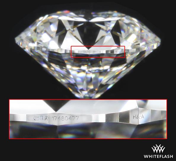 H&A Inscribed on a Diamonds Girdle