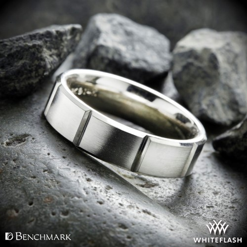 Benchmark Chambered Satin Wedding Ring