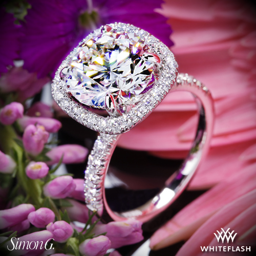 Simon G MR2132 Engagement Ring