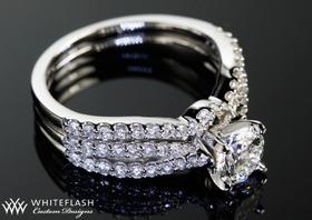 Wedding Ring Enhancers White Gold 18 New Square wedding ring wrap