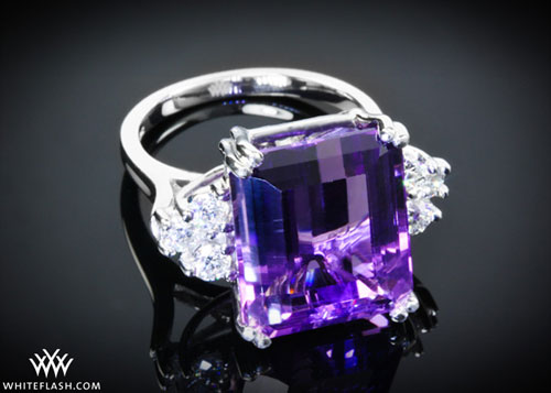 Amethyst in engagement ring