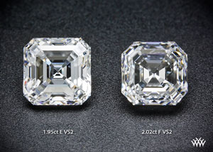 asscher cut diamonds comparison