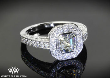 asscher engagement ring, custom engagement rings
