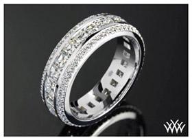 asscher diamond eternity custom wedding ring