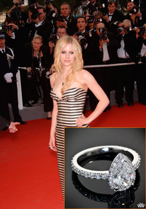 Avril Lavigne Wedding Ring Price