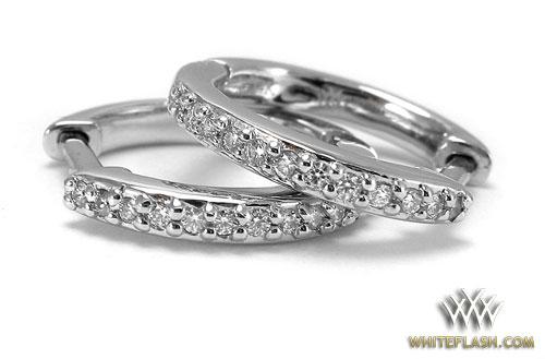 Pave setting diamond earrings