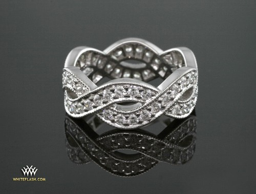 Braid Diamond Wedding Ring