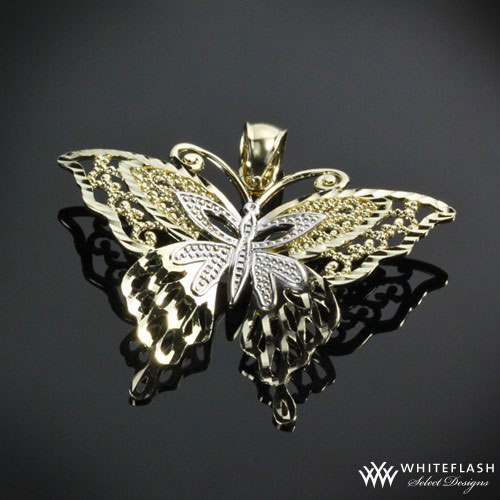 ethereal butterfly pendant