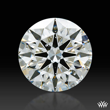 Magnified Diamond with Crystal Inclusions