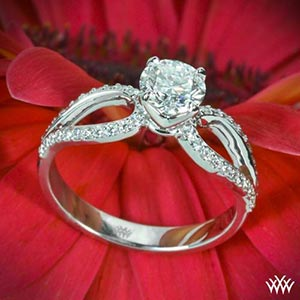 "Platinum ""Infinity"" Diamond Engagement Ring"