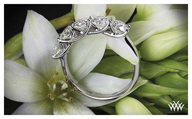5 Stone Trellis Diamond Ring Whiteflash 2013 Calendar