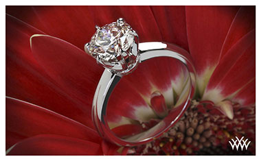 Classic 6 Prong Knife Edge Engagement Ring Whiteflash 2013 Calendar