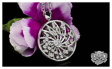 Dreams of Africa Diamond Pendant Whiteflash 2013 Calendar