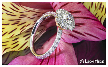 Leon Mege Lotus Diamond Ring Whiteflash 2013 Calendar