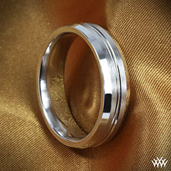 Benchmark Halved Satin Wedding Ring