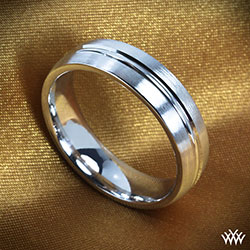 Benchmark Split Satin Wedding Ring