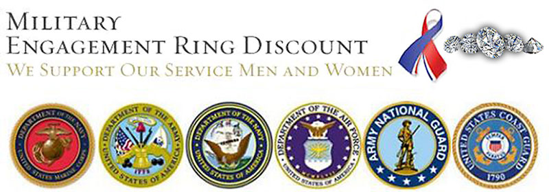 Military Discount Engagement Rings